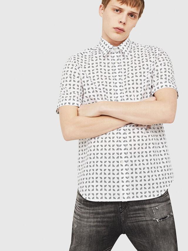 Diesel - S-AKURA-SHORT, White/Black - Shirts - Image 4