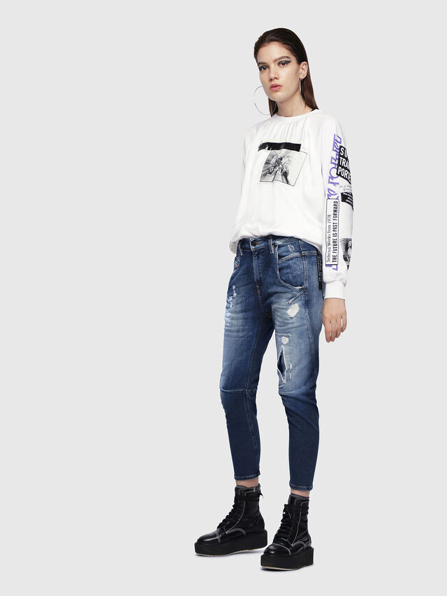Diesel - Fayza JoggJeans 087AK, Dark Blue - Jeans - Image 5