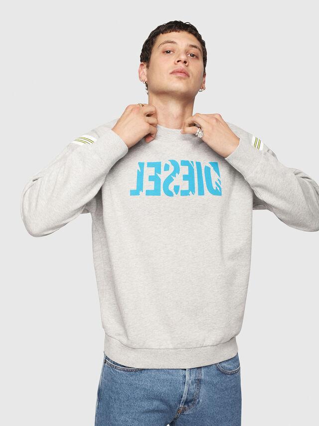 Diesel - S-RADIO, Light Grey - Sweaters - Image 3