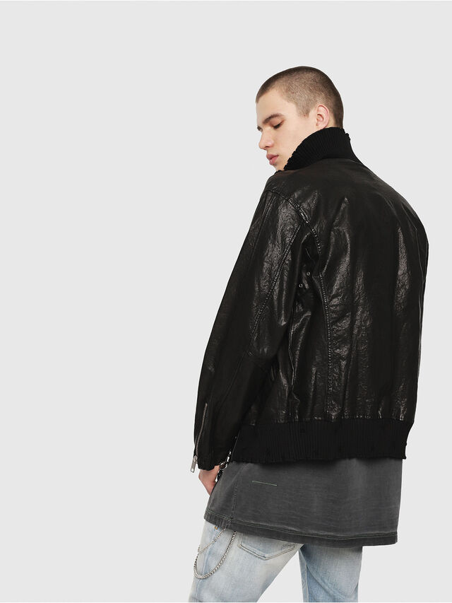 Diesel - L-LYSSEN, Black - Leather jackets - Image 2