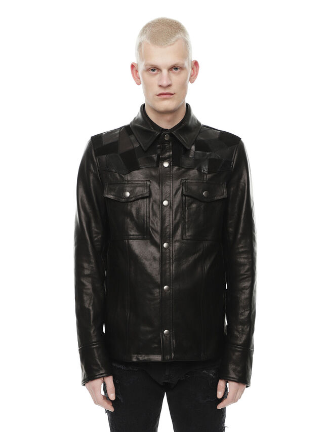 Diesel - LASTREET, Black - Leather jackets - Image 1