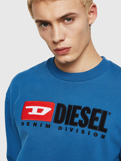 Diesel - S-CREW-DIVISION, Blue - Sweaters - Image 3
