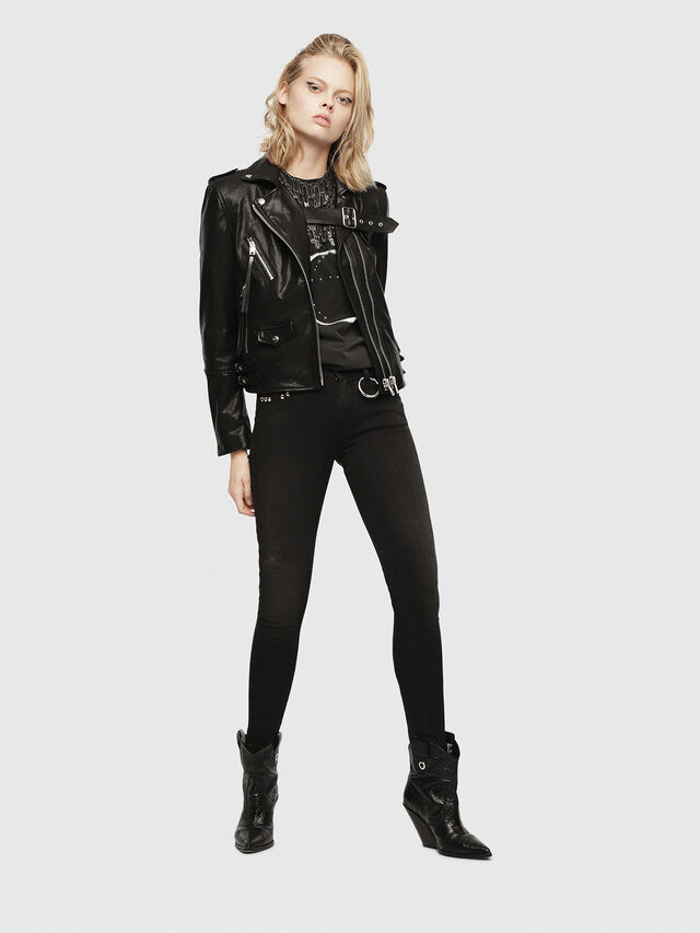 Diesel - SE-LENE, Black Leather - Leather jackets - Image 6