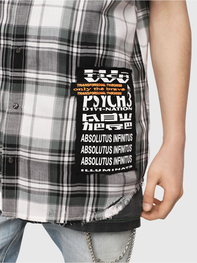 Diesel - S-EAST-LESS, Black/White - Shirts - Image 5