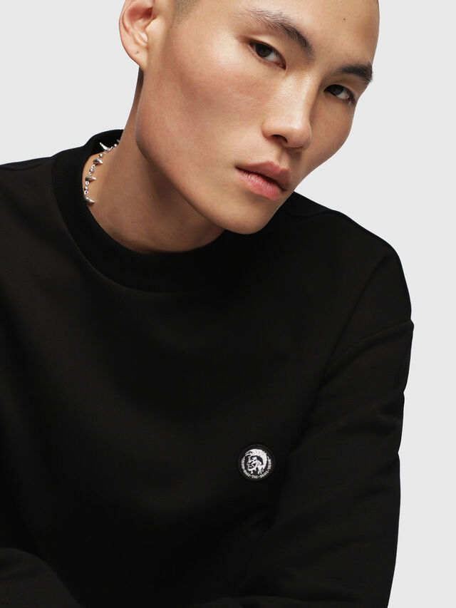 Diesel - S-LINK, Black - Sweaters - Image 3