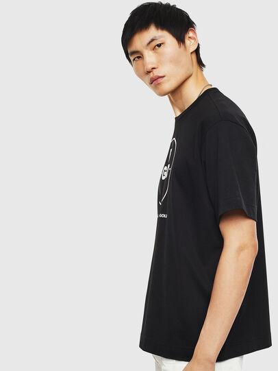 Diesel - TEORIALE-B, Black - T-Shirts - Image 4