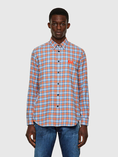 Diesel - S-MOI-CHK-A, Blue/Pink - Shirts - Image 1