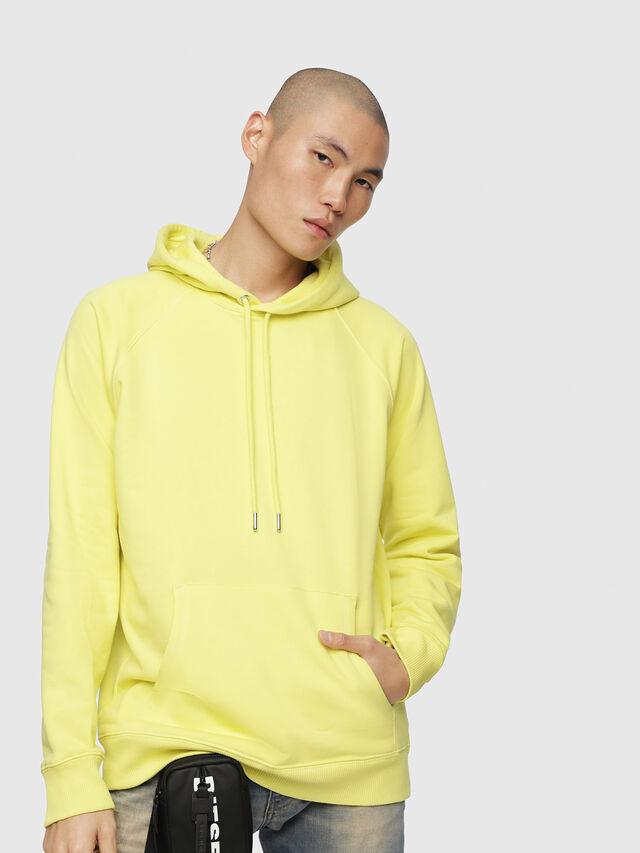 Diesel - S-GIM-HOOD-A, Light Yellow - Sweaters - Image 1