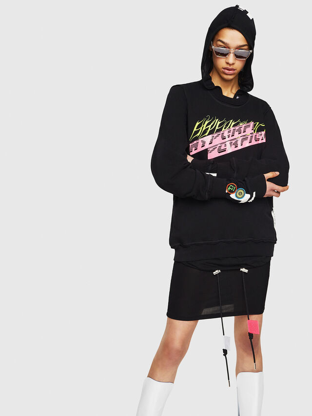 Diesel - F-LYANY-C, Black - Sweaters - Image 1