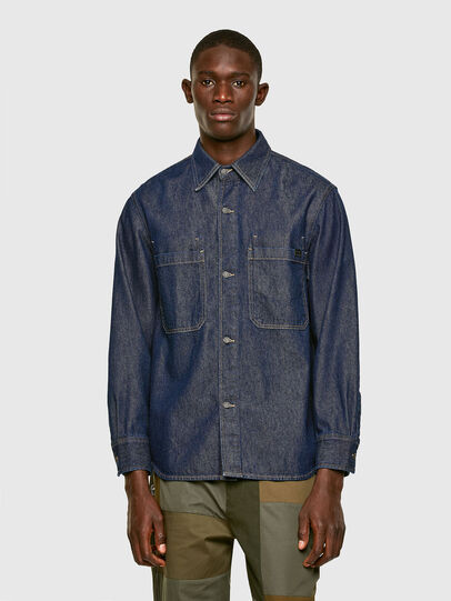 Diesel - D-RAPP, Dark Blue - Denim Shirts - Image 1