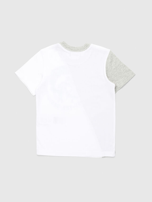 Diesel - TICAB-R, White/Grey - T-shirts and Tops - Image 2