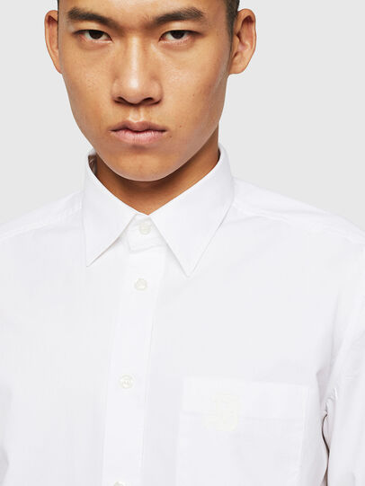 Diesel - S-MOI-R-BW, White - Shirts - Image 3