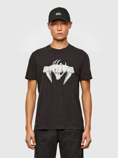 Diesel - T-DIEBIND-SLITS-A2, Black - T-Shirts - Image 1