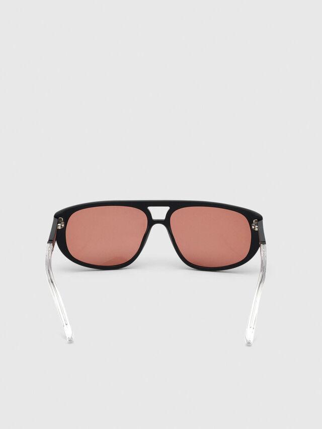 Diesel - DL0300, Black/White - Sunglasses - Image 4