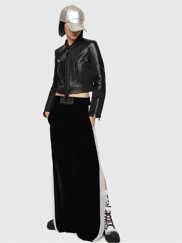 Diesel - L-MARI, Black Leather - Leather jackets - Image 4