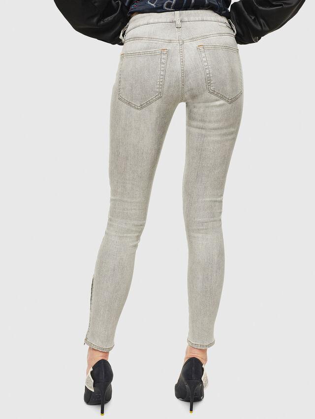 Diesel - Slandy Zip 086AE, Light Grey - Jeans - Image 2