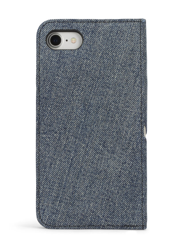 Diesel DENIM IPHONE 8 PLUS/7 PLUS FOLIO, Blue Jeans - Flip covers - Image 5