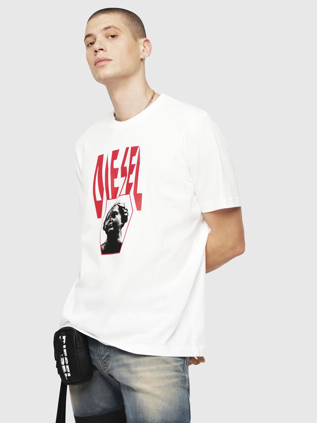 df7a2747a18bd9 T-JUST-YE Men: Logo print T-Shirt | Diesel