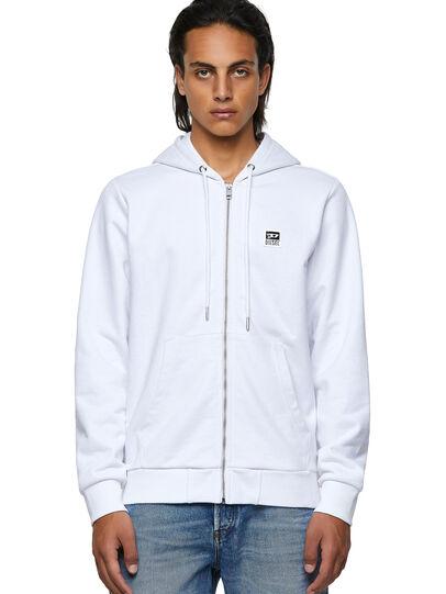 Diesel - S-GIRK-HOOD-ZIP-K1, White - Sweaters - Image 1