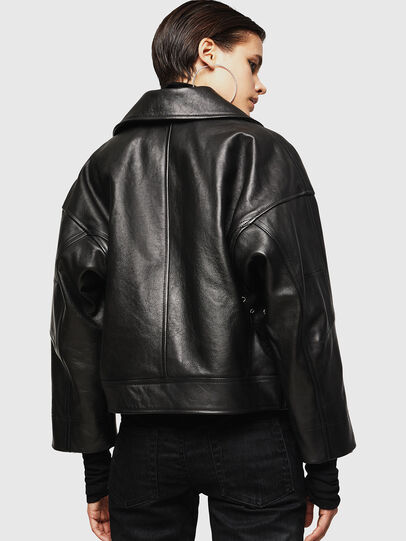 Diesel - LJESIV, Black - Leather jackets - Image 2