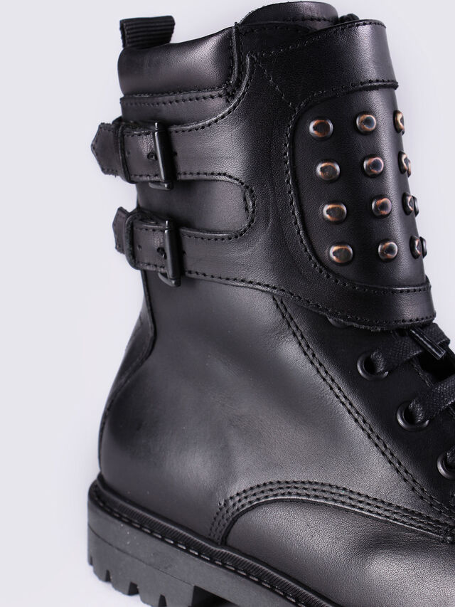 HB 9 BOOT YO, Black Leather