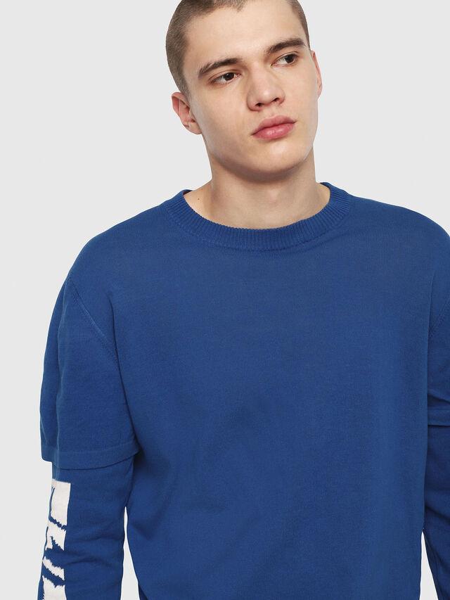 Diesel - K-BETTE, Blue/White - Knitwear - Image 3