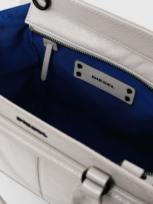 Diesel - LE-ZIPPER SATCHEL S, White - Satchels and Handbags - Image 3