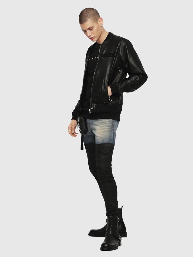 Diesel - L-PINS-A, Black - Leather jackets - Image 4