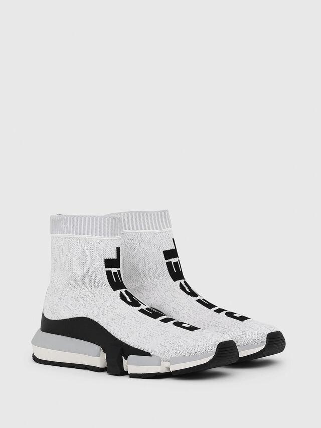 Diesel - H-PADOLA MID SOCK, White/Black - Sneakers - Image 2