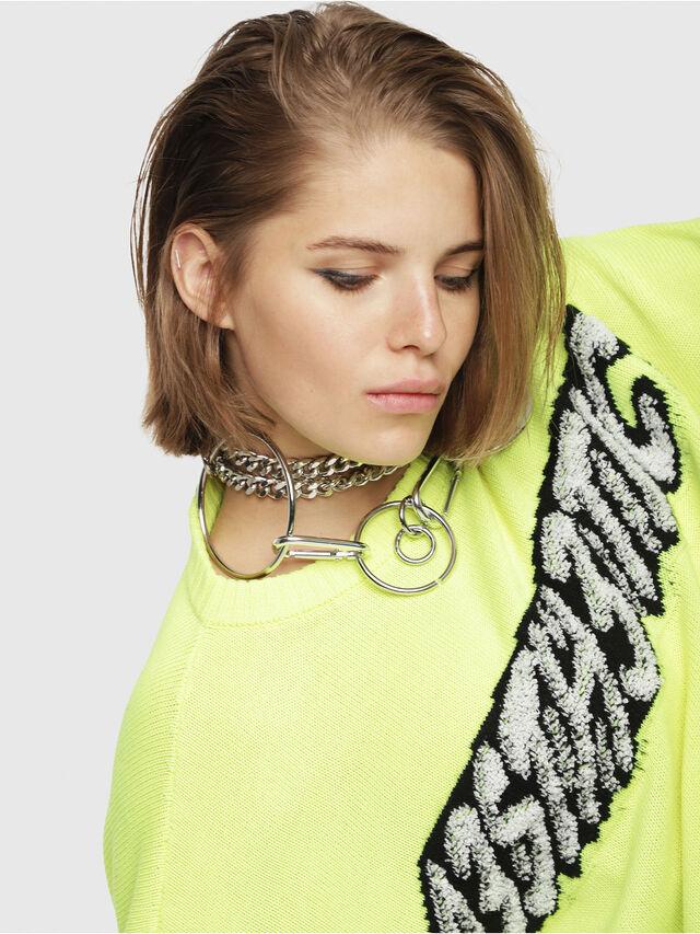 Diesel - M-TICX, Yellow Fluo - Knitwear - Image 4
