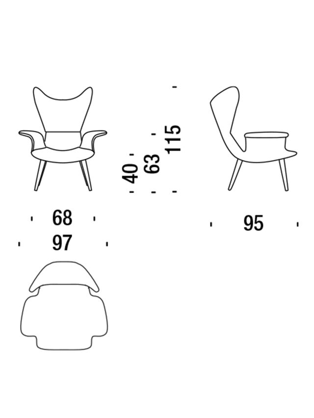 Living DL2H05 LONGWAVE, Grey - Armchairs - Image 3