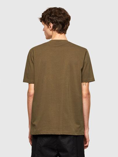 Diesel - T-JUSTEMB, Military Green - T-Shirts - Image 2