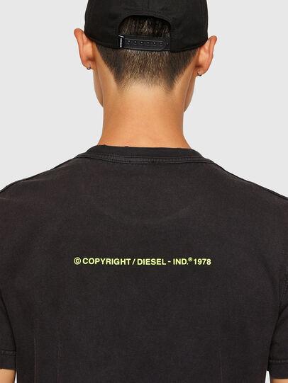 Diesel - T-DIEBIND-SLITS-A2, Black - T-Shirts - Image 4