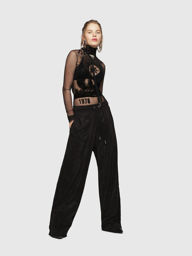 Diesel - P-STRASS, Black - Pants - Image 1