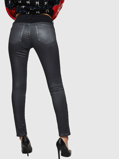 Diesel - Slandy Zip 069GF, Black/Dark grey - Jeans - Image 2