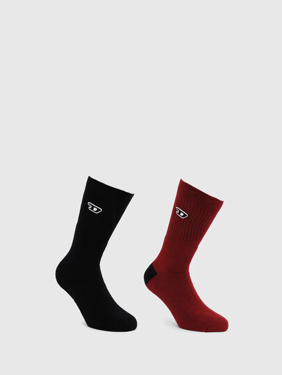 Diesel - SKM-RAY-TWOPACK, Black/Red - Socks - Image 1