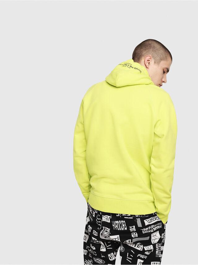 Diesel - S-GIM-HOOD-A, Yellow Fluo - Sweaters - Image 2