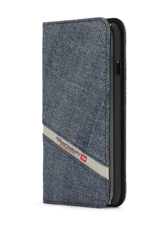 Diesel DENIM IPHONE 8/7 FOLIO, Blue Jeans - Flip covers - Image 3