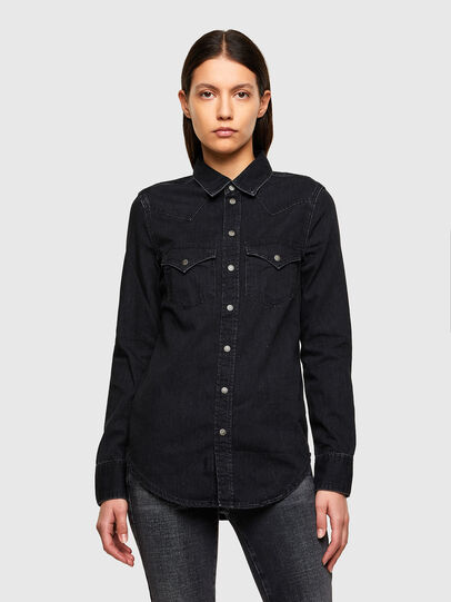 Diesel - DE-RINGY, Black - Denim Shirts - Image 1