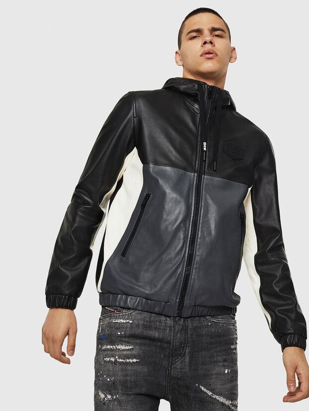 L-CARR, Black - Leather jackets
