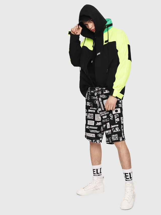 Diesel - J-FUTOSHI, Black/Yellow - Jackets - Image 6