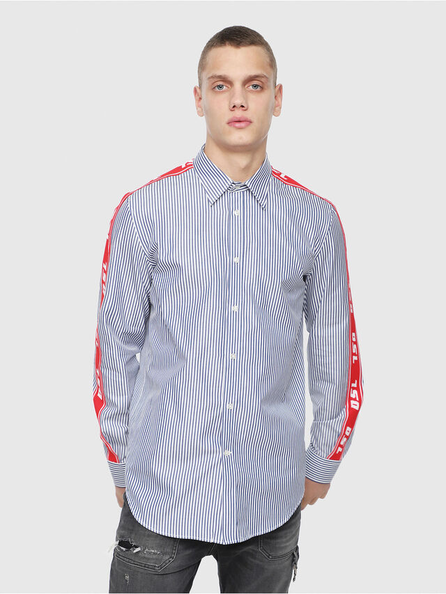 Diesel - S-NORI, Blue/Red - Shirts - Image 1