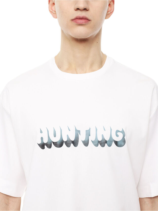 Diesel - TEORIAL-HUNTER, White - T-Shirts - Image 3