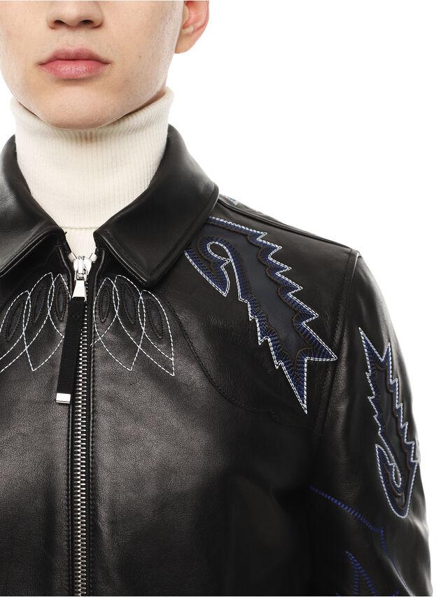 Diesel - LITEX, Black - Leather jackets - Image 4