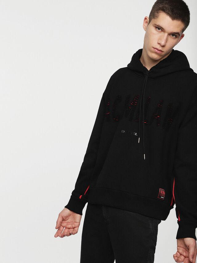Diesel - DVL-SIZIP-CAPSULE, Black - Sweaters - Image 3