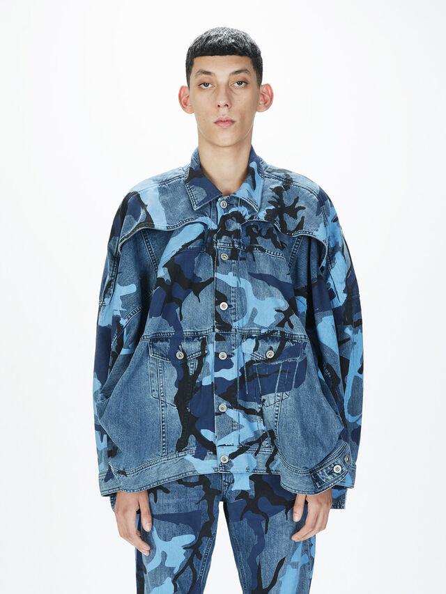 Diesel - SOJK01, Melange Blue - Jackets - Image 3