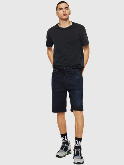 Diesel - D-WILLOH CB JOGGJEANS, Dark Blue - Shorts - Image 5