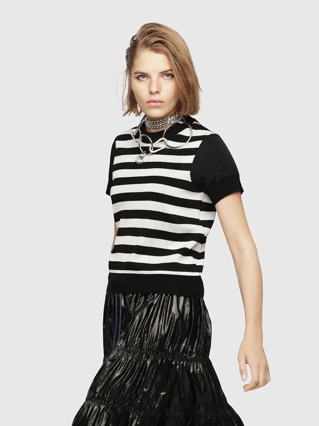 Diesel - M-UNDER, Black/White - Knitwear - Image 2