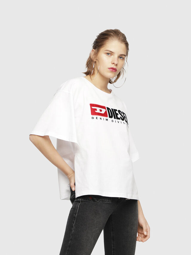 Diesel - T-JACKY-D, White - T-Shirts - Image 1