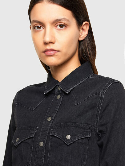 Diesel - DE-RINGY, Black - Denim Shirts - Image 3